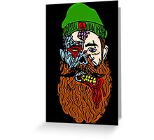 HipsterZombieBeardguy Greeting Card