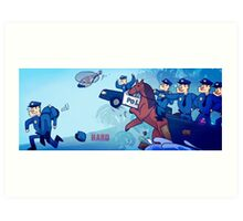 Party Hard - All the cops Art Print