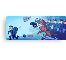 Party Hard - All the cops Metal Print