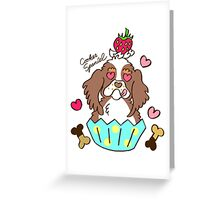 Cooker Spaniel Cupcake - tri color, party color Greeting Card