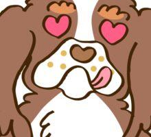Cooker Spaniel Cupcake - tri color, party color Sticker