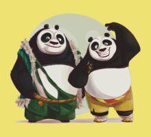 Kung Fu Pand 3 Po and Li father and son Kids Tee