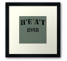 H*E*A*T Framed Print