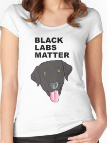 Black Labs Matter Women's Fitted Scoop T-Shirt