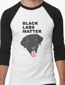Black Labs Matter Men's Baseball ¾ T-Shirt