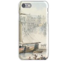 Thomas Rowlandson, EXETER QUAY WITH SHIPPING, TAKEN FROM HAVEN BANKS iPhone Case/Skin