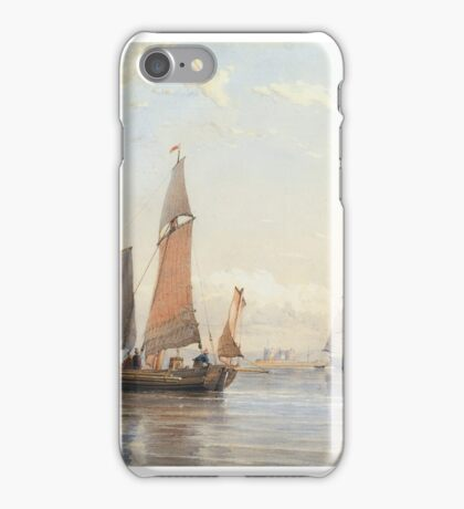 Thomas Sewell Robins , A FRENCH EGG BOAT ENTERING SOUTHHAMPTON WATER iPhone Case/Skin