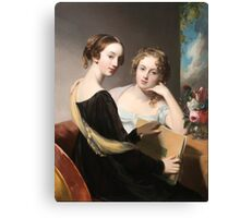 Thomas Sully - Portrait of the Misses Mary and Emily McEuen Canvas Print