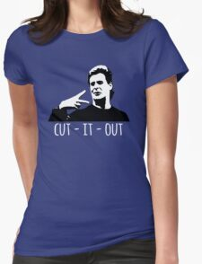 Cut It Out  Womens Fitted T-Shirt