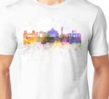 Ahmedabad skyline in watercolor background Unisex T-Shirt