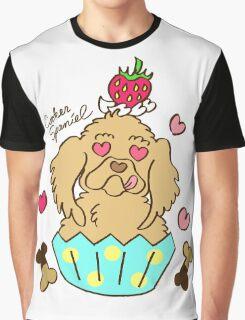 Cooker Spaniel Cupcake - Creme Graphic T-Shirt