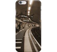 The Art of London Underground - Bakerloo Line at Waterloo Station iPhone Case/Skin