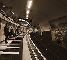 The Art of London Underground - Bakerloo Line at Waterloo Station by Themis