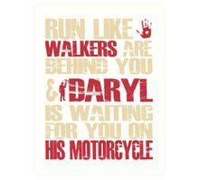 Run with Daryl Art Print