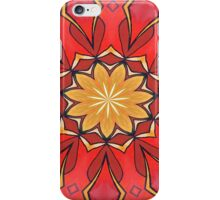 Ochre and Red Abstract Kaleidoscope iPhone Case/Skin