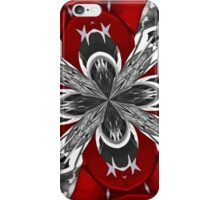 Red Black and White Kaleidoscope iPhone Case/Skin