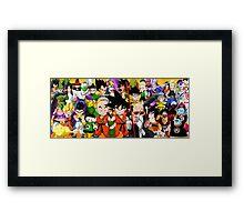 DB characters Framed Print