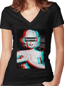 Supreme Marilyn Monroe Women's Fitted V-Neck T-Shirt