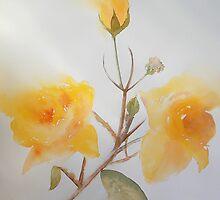 Yellow Rosebush by Deborah Pass