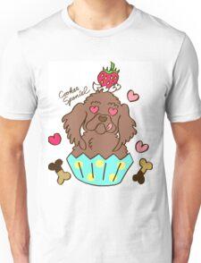 Cooker Spaniel Cupcake - Chocolate Unisex T-Shirt