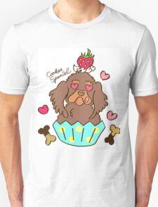 Cooker Spaniel Cupcake - Chocolate Tan Unisex T-Shirt