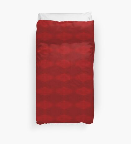 Climbing Red Roses Abstract Duvet Cover
