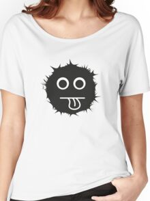 Black and white emoticon Women's Relaxed Fit T-Shirt