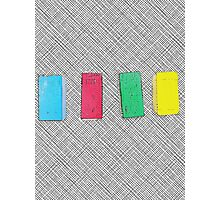 Graphic primary colour blocks Photographic Print