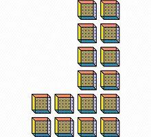 TETRIS COLLECTION Shape D by Printmysoul