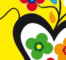 Symbols of Portugal   Valentines Scarf (Lenço Namorados) #02 Sticker