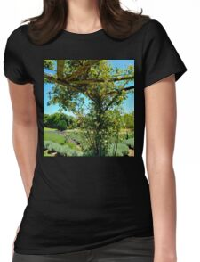Rose Trellis Womens Fitted T-Shirt