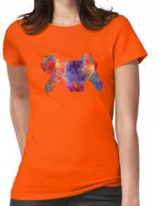 Tibetan Terrier in watercolor Womens Fitted T-Shirt