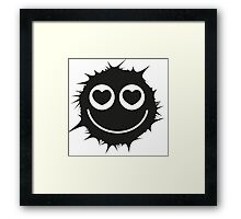 Black and white emoticon Framed Print