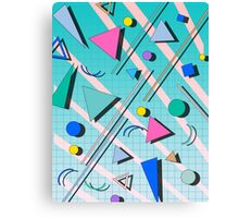 80s pop retro pattern 4 Canvas Print