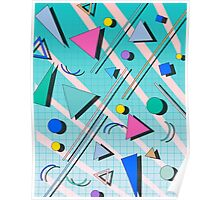 80s pop retro pattern 4 Poster