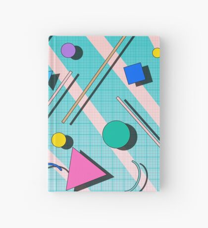 80s pop retro pattern 4 Hardcover Journal