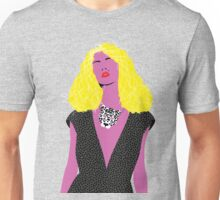 pop art woman with leo mask Unisex T-Shirt