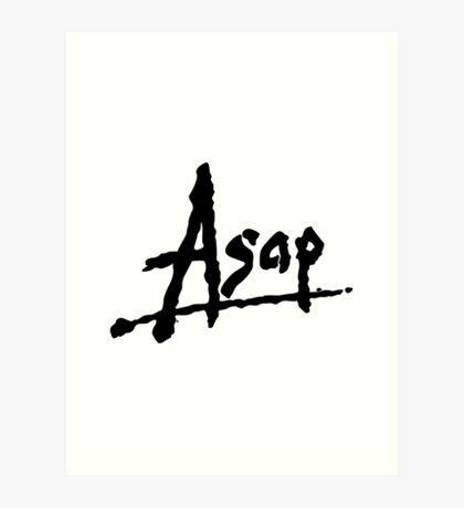 asap rocky merchandise art prints redbubble
