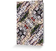 Scene of City Structures Greeting Card