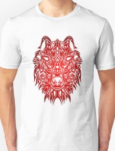 Wolf Head Red  T-Shirt