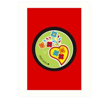 Symbols of Portugal   Valentines Scarf (Lenço Namorados) #01 Art Print
