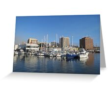 Hobart from the wharf Greeting Card