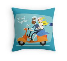 Relationship goal : travel together Throw Pillow