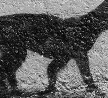 Black Cat Graffiti Street Art in Portugal Sticker