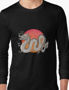 Champagne Dragon Long Sleeve T-Shirt