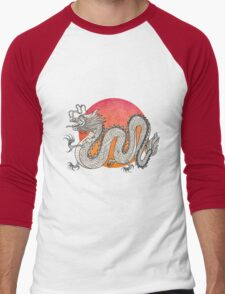Champagne Dragon Men's Baseball ¾ T-Shirt