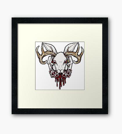 Wallmounted Wonderland Jackalope Framed Print