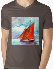 Boat Mens V-Neck T-Shirt