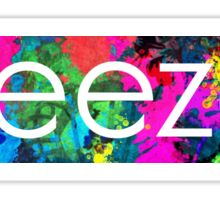 weezer logo paint splatter  Sticker