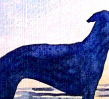 Dog at Sunset Sticker